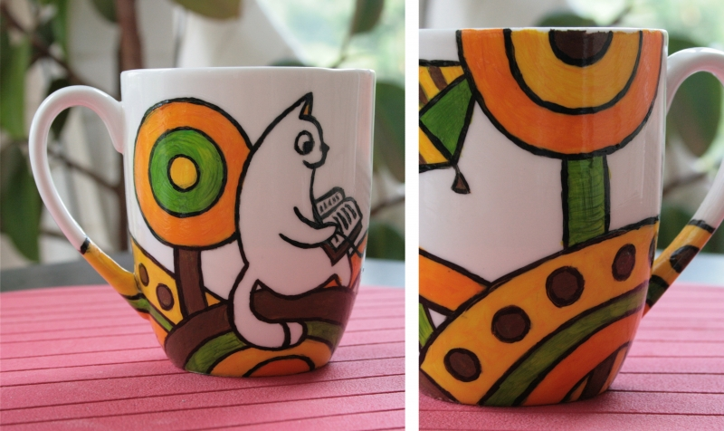 A gift cup with Little Kitten Bantik, 2013