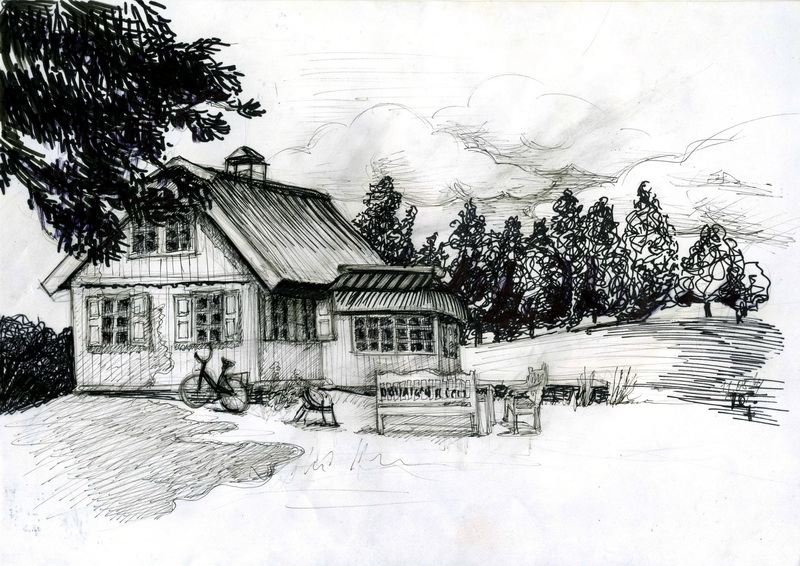 Как нарисовать дом на берегу моря